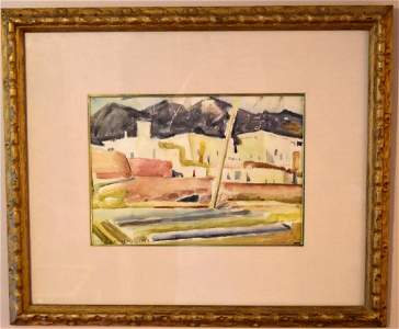 Victor Higgins; Important American Watercolor Signed