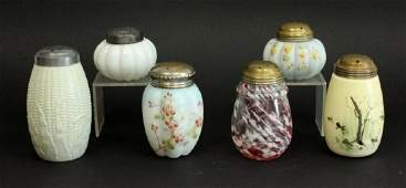 Lot of Six(6) American Victorian Glass Sugar Shakers