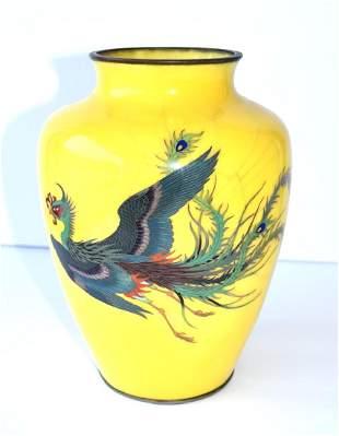 Rare 19thC. Japanese Cloisonne Vase
