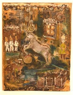 Marc Chagallattributed to Modernist Gouache