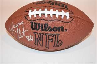 New York Jets Autographed Wayne Chrebet Football