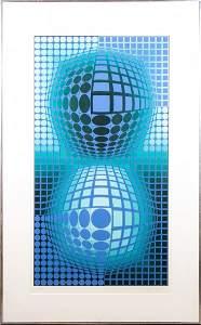 Victor Vasarely; 20thC. Screenprint - Battor Signed