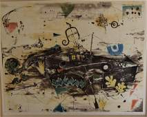 Jung Lee Watarari; 20thC. Modernist Etching and