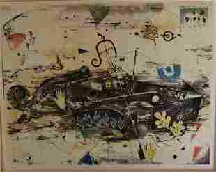 Jung Lee Watarari 20thC Modernist Etching and