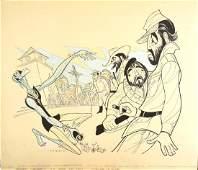 Sam Norkin 20thC American Ink Illustration Signed