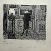 Edward Gorey 20thC Modernist Lithograph Signed