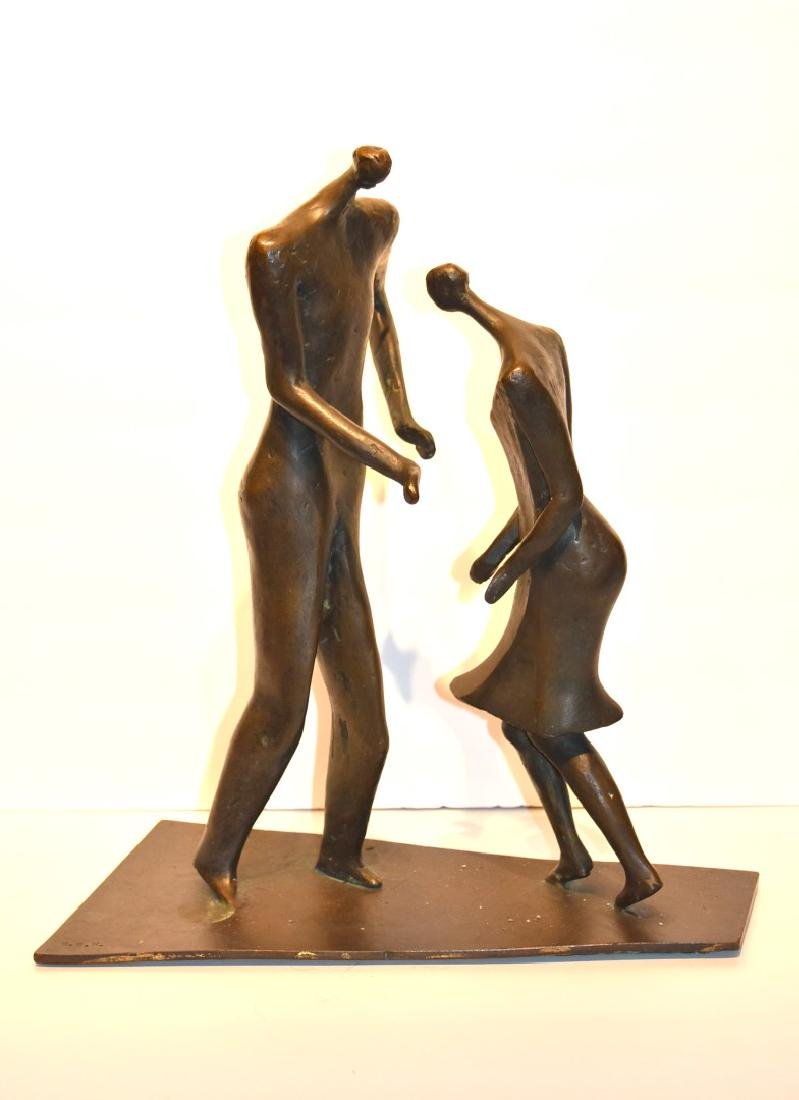 Henry Moore(after); 20thC. Modernist Bronze Grouping