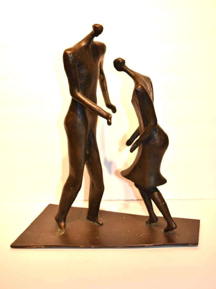 Henry Moore(after); 20thC. Modernist Bronze Grouping - 2
