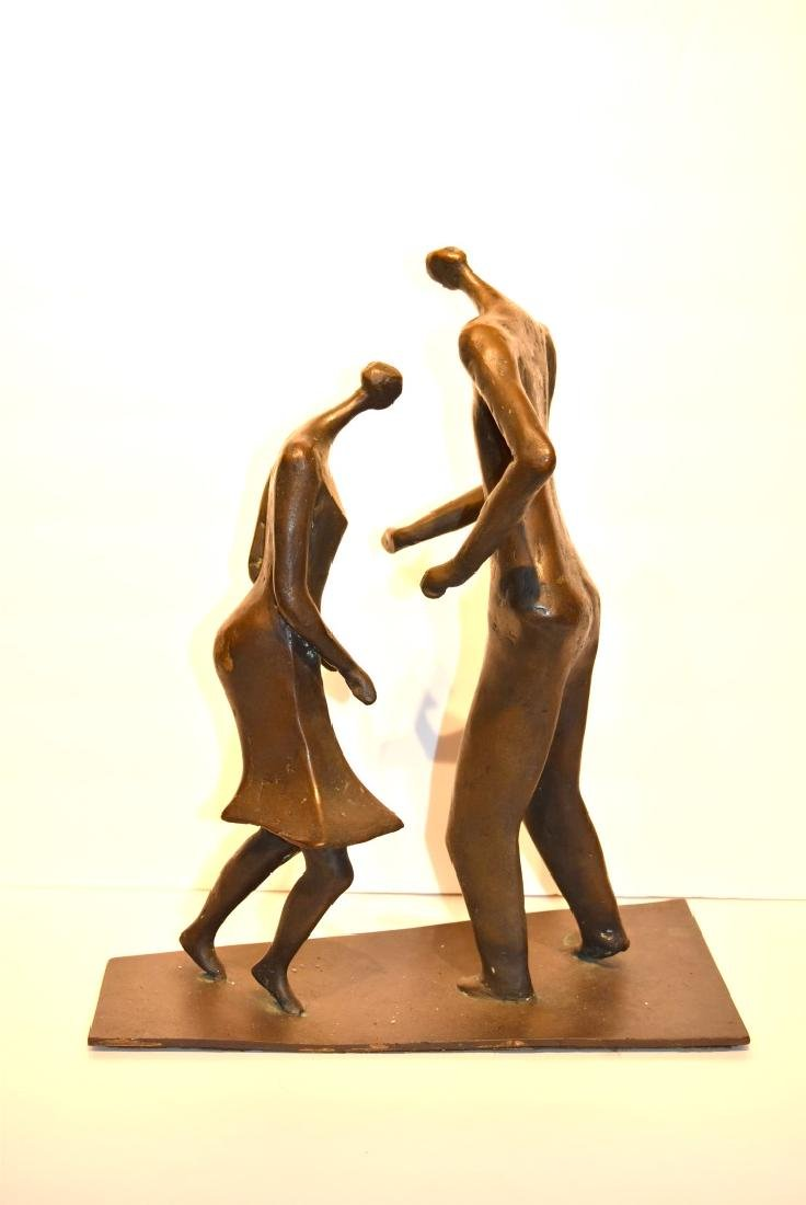 Henry Moore(after); 20thC. Modernist Bronze Grouping - 4