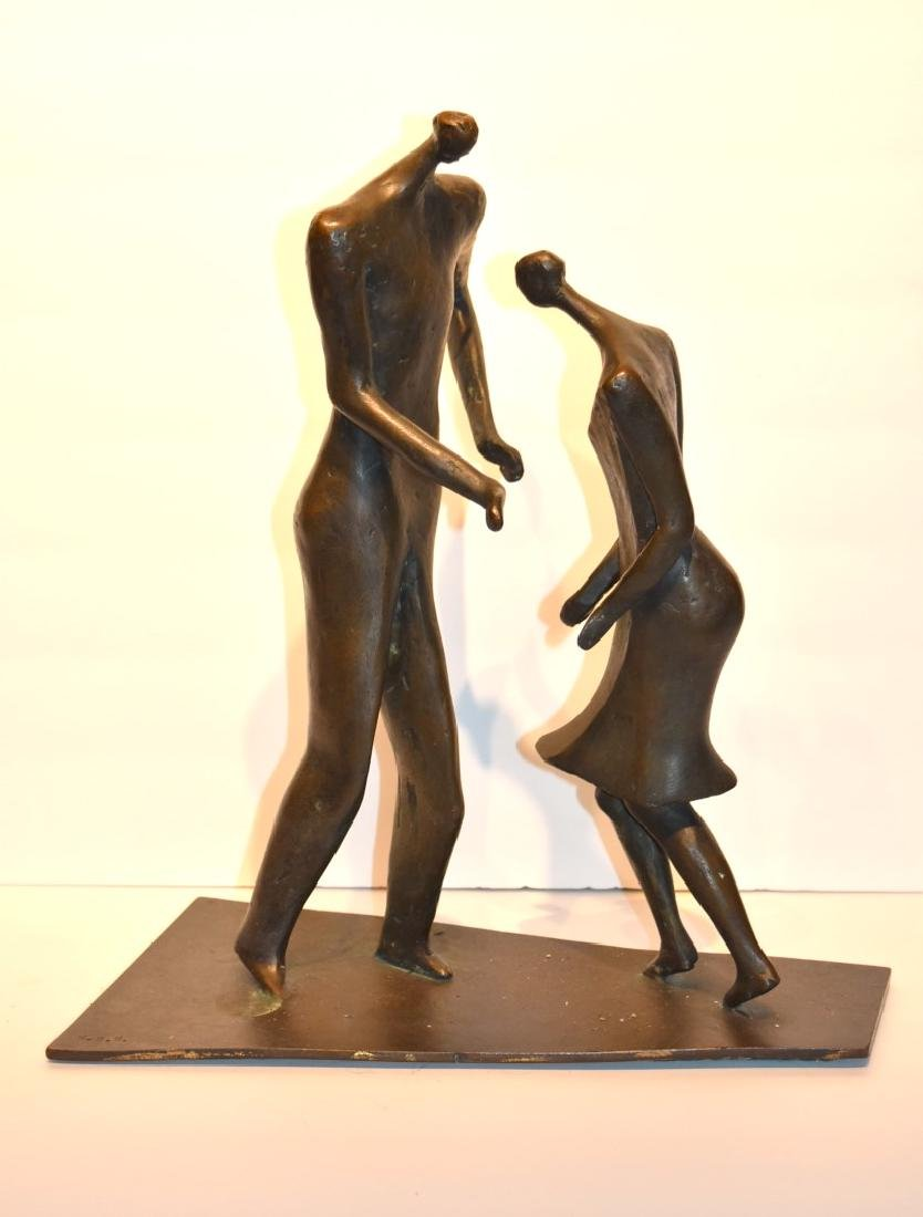 Henry Moore(after); 20thC. Modernist Bronze Grouping - 8