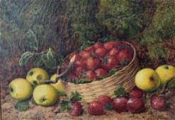 George Clare; English Oil Still Life Signed