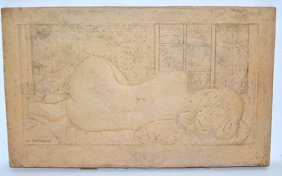 H. Sargent; 20thC. Terracotta Plaque Signed