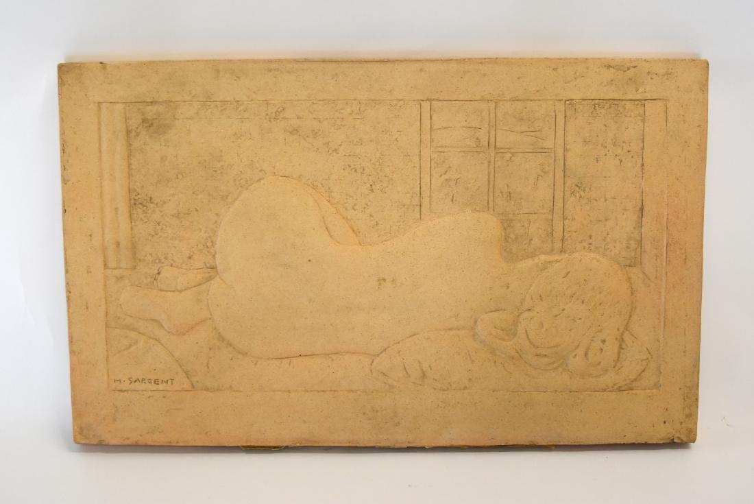 H. Sargent; 20thC. Terracotta Plaque Signed - 2