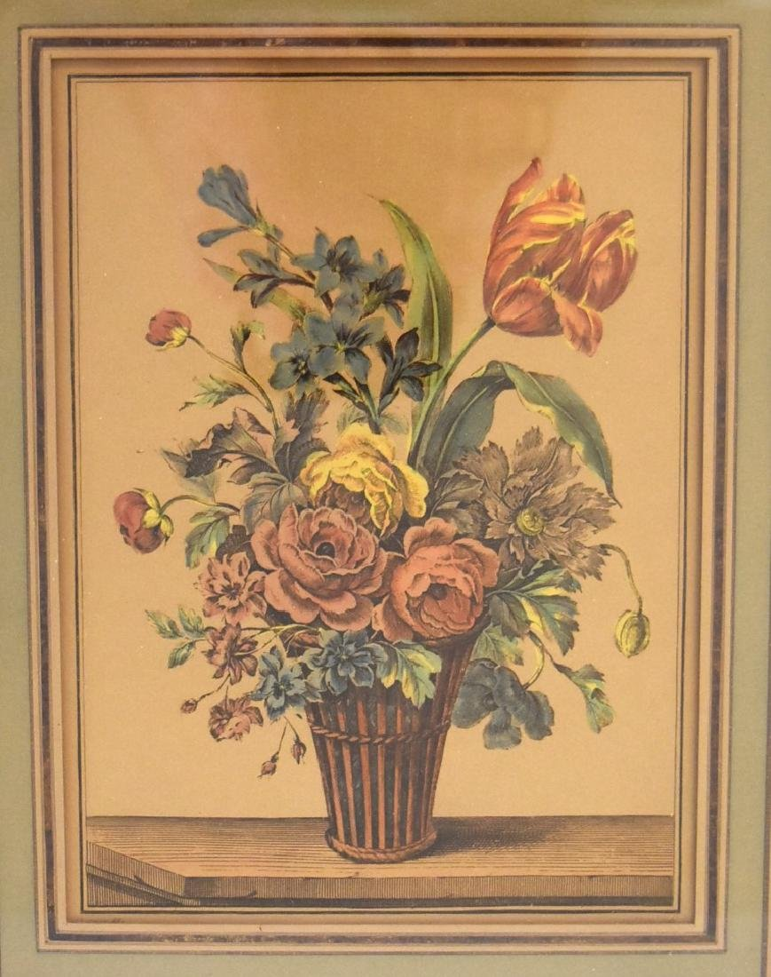 Pair of Early Hand Colored Botanical Prints - 2