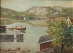Paul Cornoyer; American Oil New England Harbor View
