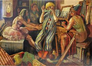 Pamela Rose 20thC American Oil Painting Signed