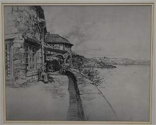Vernon Howe Bailey American Charcoal Drawing Signed