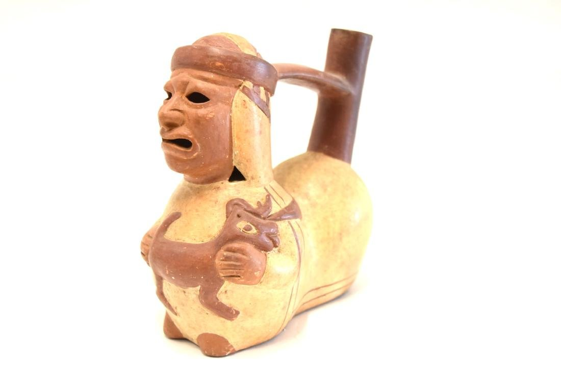 Mayan Glazed Figural Pottery Vessel