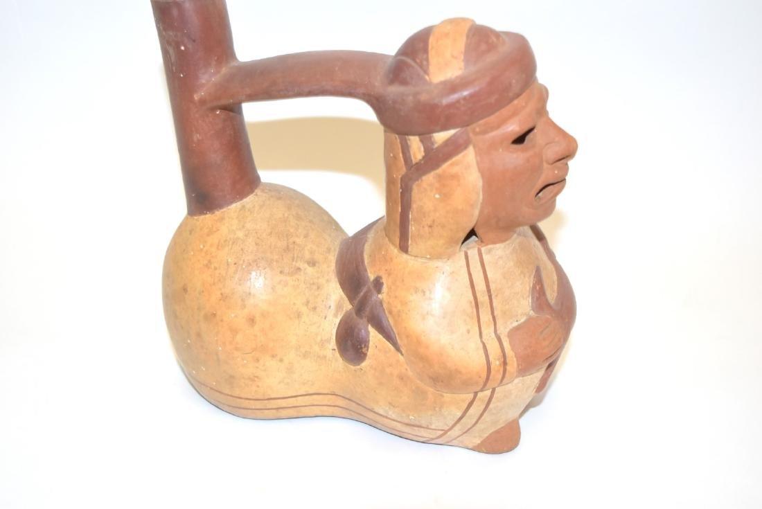 Mayan Glazed Figural Pottery Vessel - 3