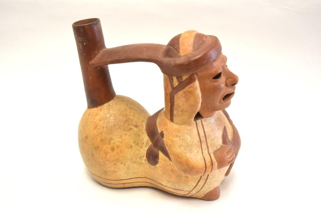 Mayan Glazed Figural Pottery Vessel - 4