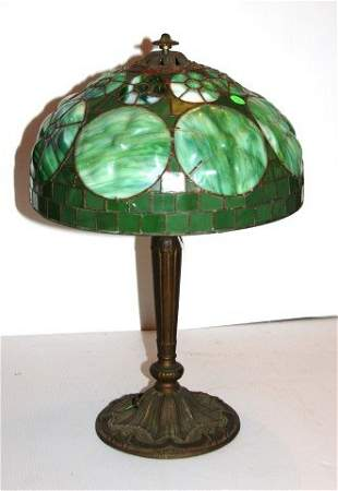 Blown Out Floral Leaded Lamp