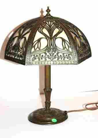 Handel Overlay Glass Panel Lamp