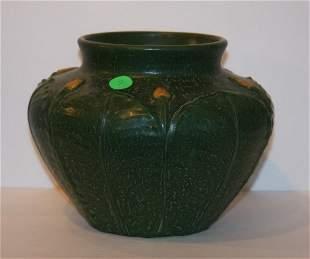 Ephraim Faience Pottery Vase Signed