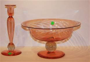 Two(2) Stueben Glass Pieces