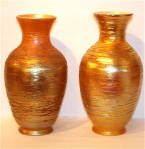 Pair of Durand Glass Shades
