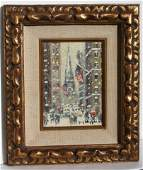 Guy Wiggins; American Oil Painting Signed