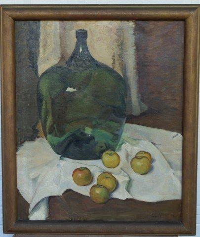 Luigi Lucioni; American Oil Painting Signed