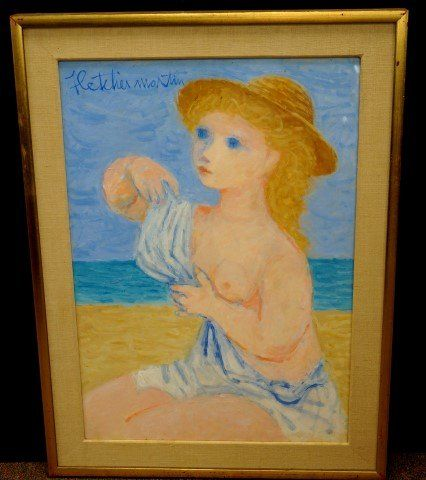 Fletcher Martin; American Oil Painting Signed