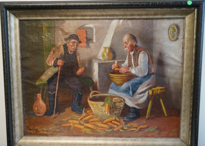Polish Oil Painting Signed