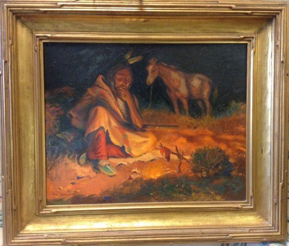 William Moyers; American Western Oil Painting Signed