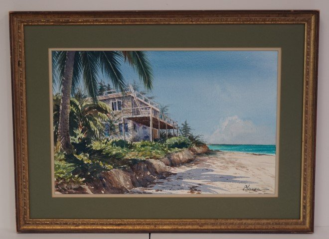 Ogden Pleissner; American Watercolor Signed