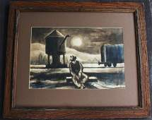 Thomas Hart Benton; American Ink and Watercolor Signed