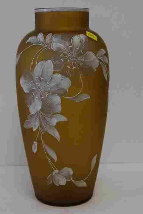 Victorian Enameled Glass Vase