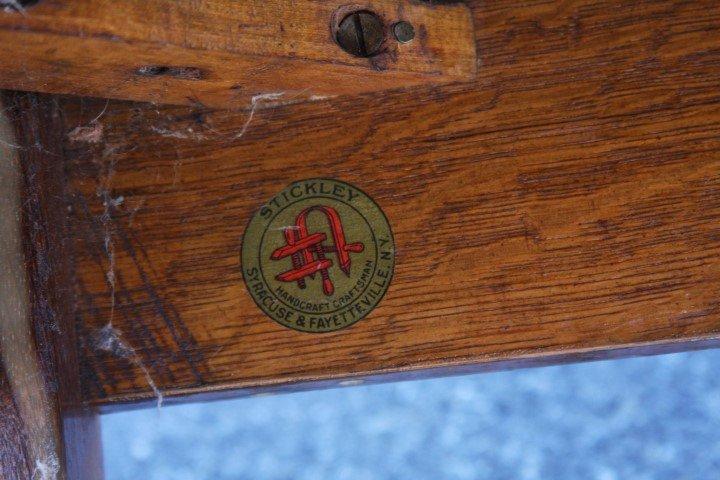Stickley Art & Crafts Mission Oak Settle - 5
