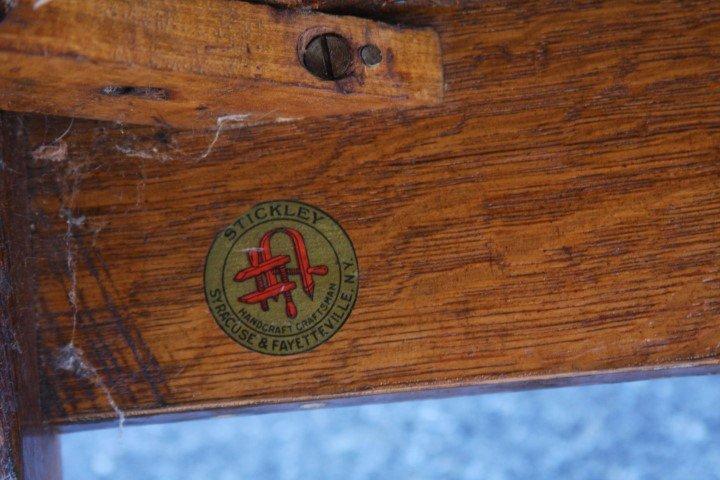 Stickley Art & Crafts Mission Oak Settle - 6