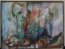 A Kirk 20th C Abstract Oil Painting Signed