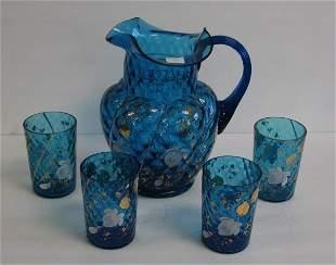 Victorian Five(5) Piece Glass Lemonade Set