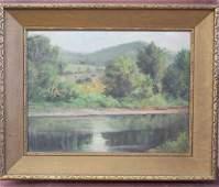 19thC. American School; Oil Landscape
