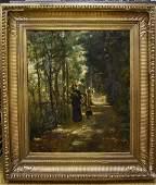 Henri -Joseph Harpignies; French Oil Painting Signed