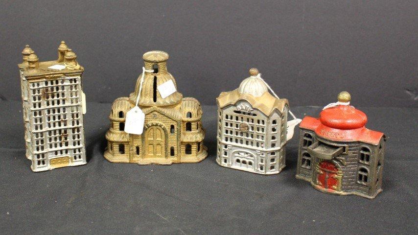 Four(4) Antique Cast Iron Still Banks