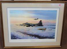 Robert Taylor; Framed WWII Print