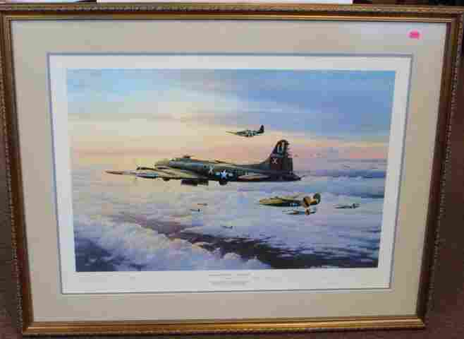 Robert Taylor; Framed WWII Print
