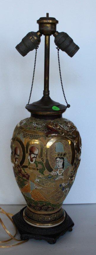 Satsuma Porcelain Lamp Base