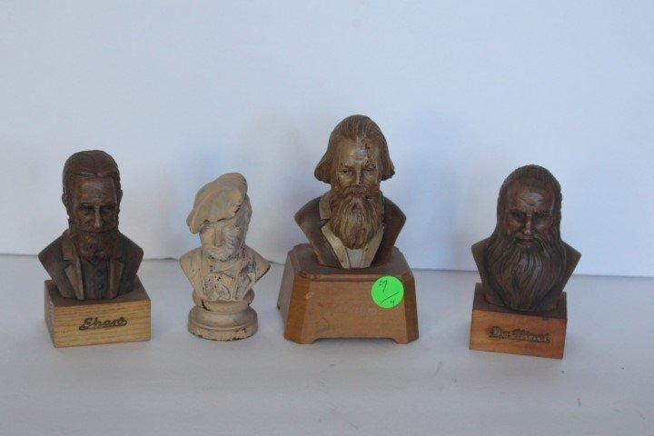 Four(4) German Minuature Busts
