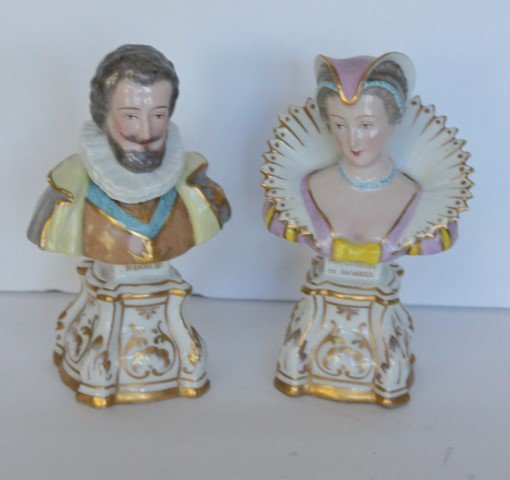 Pair of 19thC. French Porcelain Busts