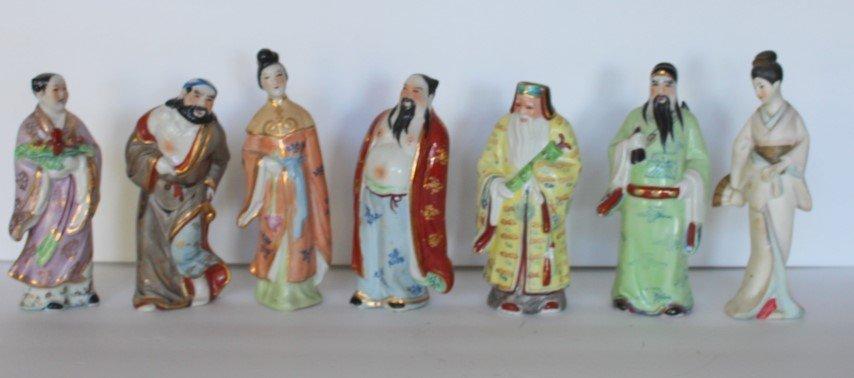Seve(7) Miscellaneous Oriental Porcelain Figures